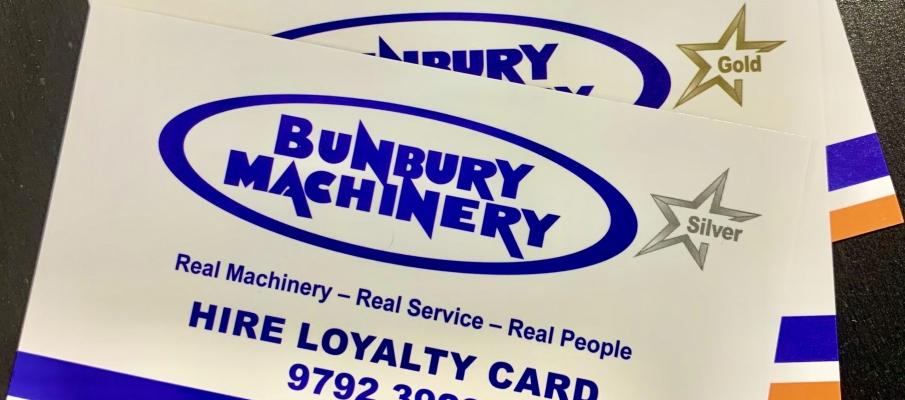 Bunbury Machinery Reintroducing Loyalty Cards!